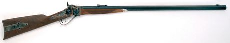Photo Rifle Sharps 1874 Down Under heavy gun 34 '' cal. .45 / 70