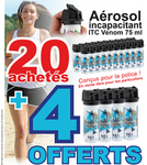 Lot de 24 aérosols ITC VENOM 75 ml