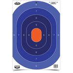 Set of 3 reactive silhouette target centers blue-orange