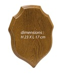 Trophy oak escutcheon