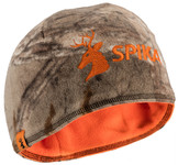 Photo Bonnet polaire réversible camo / orange