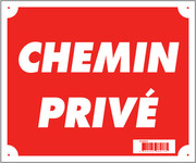 Photo Panneau ''CHEMIN PRIVE'' 30 x 25 cm