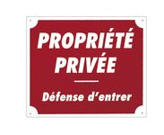 '' Private Property '' Sign 30 x 25 cm