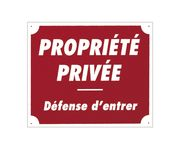 Akilux panel '' Private property '' 30 x 25 cm
