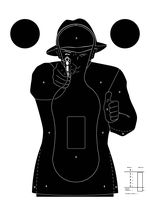 100 targets Silhouette Police 51 x 71 cm