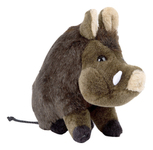 Seated boar soft toy