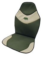 Seat cover khaki / beige embroidered boar