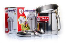 Zebra Inox mugs with handle - 10 to 16 cm