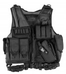 Tactical vest with holster