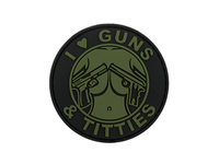 Guns and Titties PVC Patch - OD