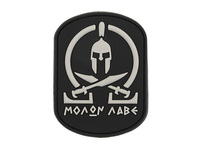 Molon Labe Black PVC Patch