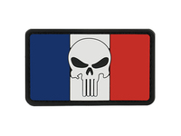 PVC Skull Flag France Patch