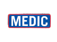 PVC Medic Patch White and Blue