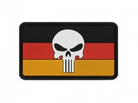 PVC Skull German Flag Patch
