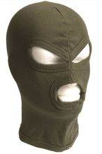 3 holes olive cotton hood