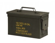 US Ammo box Metal Cal.50 / 5.56 Used