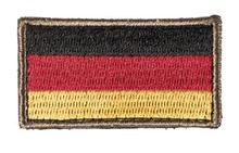 Photo Patch brodé drapeau allemand 3.5 x 6cm