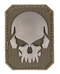 PVC Patch Skull OD Green 6 x 4.5cm