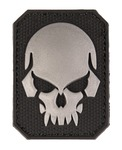 PVC Patch Skull Black 6 x 4.5cm