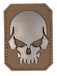 PVC patch Skull Tan 6 x 4.5cm