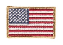 Embroidered patch USA flag color 4 x 6cm