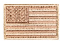 Patch brodé drapeau USA Tan 4 x 6cm