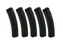 Pack of 5 MP5 mid-cap 100 ball magazines - King Arms