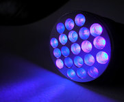 Photo UV Black 21 LED Lamp 395-400 nm - Lumitorch