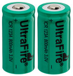 Piles lithium CR-123A rechargeables - Lumitorch