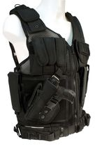 Black vest with holster