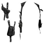 Black shoulder holster