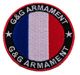 Circular patch France G & G armament flag patch velcro