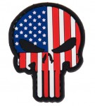 Patch PVC Skull USA