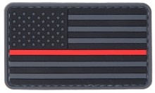 US Flag Red line PVC Patch