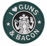 Patch PVC I love Guns & Bacon