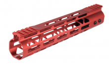 Garde main Aluminium Speed Skeleton M-LOK 10' Rouge