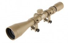 3-9 x 40 with Ris mount scope Tan