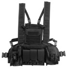 Photo Gilet chest rigg Molle Noir - swap