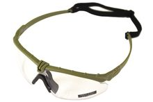 Battle Pro Thermal Green / Clear Sunglasses - Nuprol