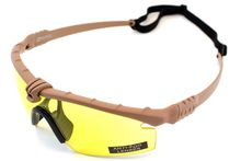 Battle Pro Thermal Tan / Yellow Sunglasses with Insert - Nuprol