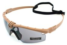 Battle Pro Thermal Tan / Smoke Glasses with Insert - Nuprol