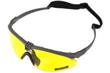 Battle Pro Thermal Gray / Yellow Sunglasses with Insert - Nuprol