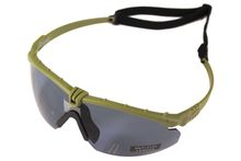 Battle Pro Thermal Green / Smoke glasses with insert - Nuprol