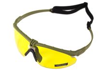 Battle Pro Thermal Green / Yellow Sunglasses with Insert - Nuprol