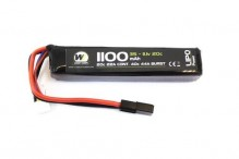 LiPo Battery 11.1v / 1100 mah 20c 1 stick