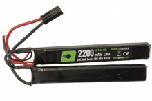 7.4v / 2200mah 20c LiPo battery 2 sticks