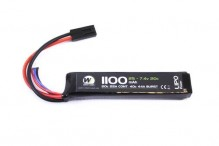 7.4v / 1100mah 20c LiPo battery 1 stick