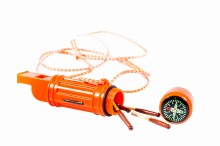 Multifunction survival whistle