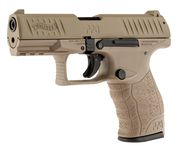 Photo Pistolet 9 mm à blanc Walther PPQ M2 tan fde