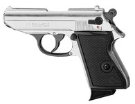 Photo Pistolet 9 mm à blanc Chiappa Lady nickelé